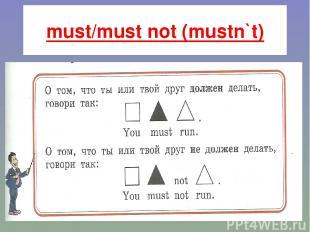 must/must not (mustn`t) .