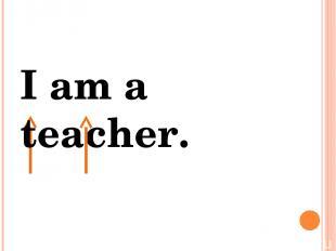 I am a teacher. Я есть