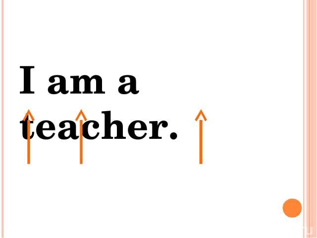 I am a teacher. Я есть учитель.
