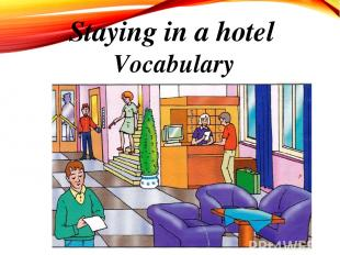Staying in a hotel Vocabulary