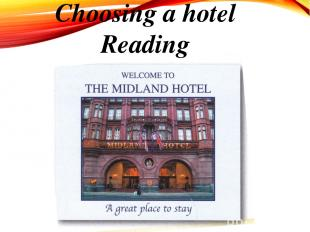 Choosing a hotel Reading