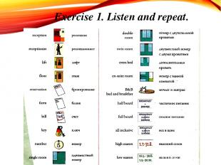 Exercise 1. Listen and repeat.