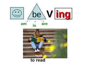 V ing to read am is are