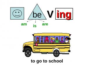 V ing to go to school am is are