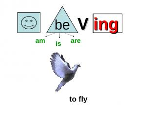 V ing to fly am is are