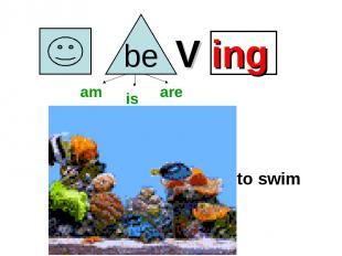 V ing to swim am is are