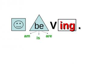 V ing . am is are