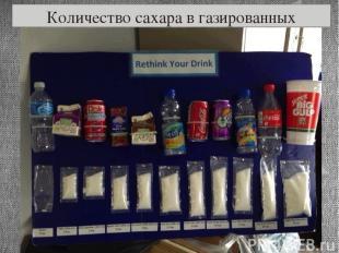 Количество сахара в газированных напитках