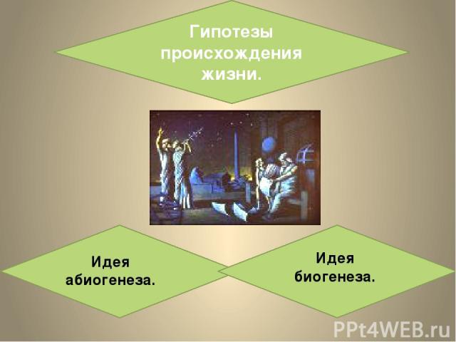 Гипотезы происхождения жизни. Идея абиогенеза. Идея биогенеза.