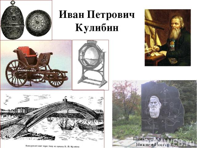 Иван Петрович Кулибин Памятник Кулибину в Нижнем Новгороде