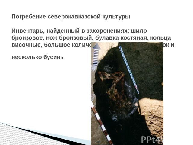 северокавказская катакомбная и срубная археологические культуры