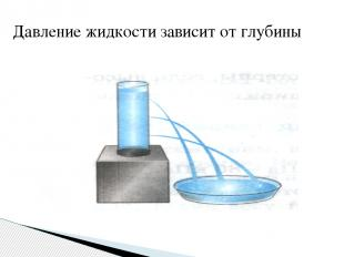 Давление жидкости зависит от глубины