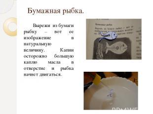 Бумажная рыбка. Вырежи из бумаги рыбку – вот ее изображение в натуральную величи