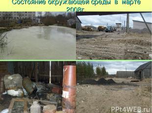 Состояние окружающей среды в марте 2008г.