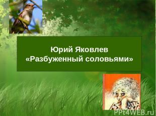 Юрий Яковлев «Разбуженный соловьями»
