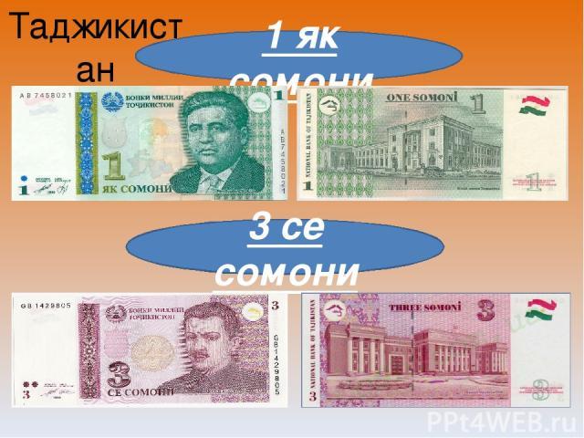 Таджикистан 1 як сомони 3 се сомони