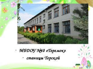 МБДОУ №40 «Теремок» станицы Терской