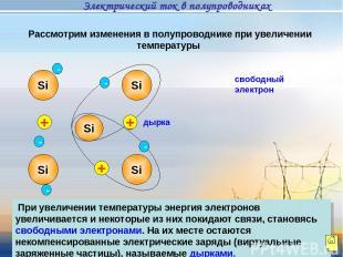 Рассмотрим изменения в полупроводнике при увеличении температуры При увеличении