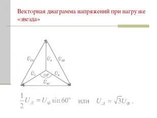 Векторная диаграмма напряжений при нагрузке «звезда»