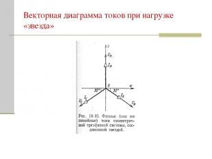 Векторная диаграмма токов при нагрузке «звезда»