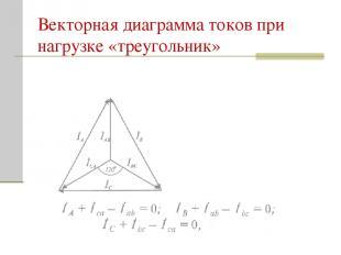 Векторная диаграмма токов при нагрузке «треугольник»