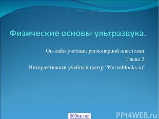 """Он-лайн учебник регионарной анестезии. Глава 2. Интерактивный учебный центр """"Ner"""