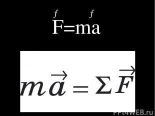 → → F=ma