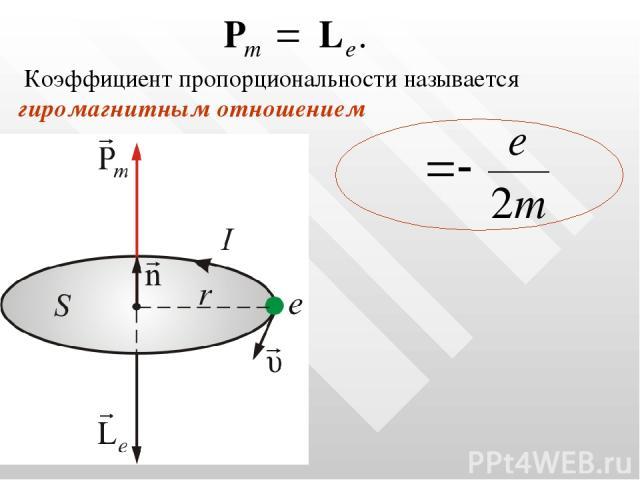 Коэффициент пропорциональности называется гиромагнитным отношением