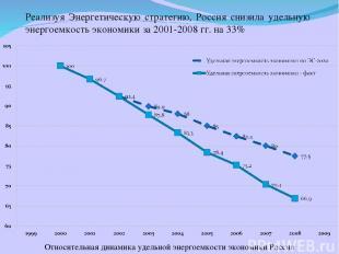 Реализуя Энергетическую стратегию, Россия снизила удельную энергоемкость экономи