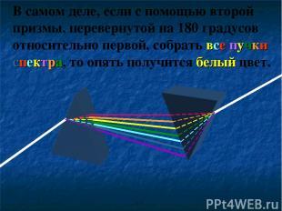 В самом деле, если с помощью второй призмы, перевернутой на 180 градусов относит