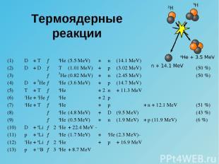 Термоядерные реакции