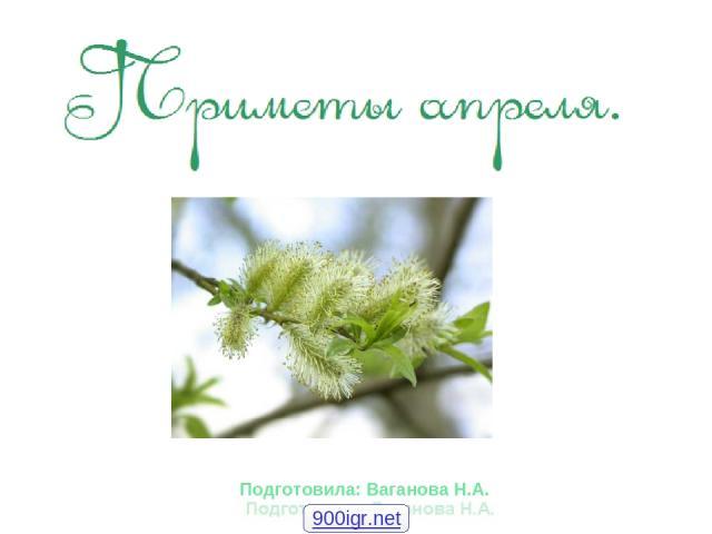 Подготовила: Ваганова Н.А. 900igr.net
