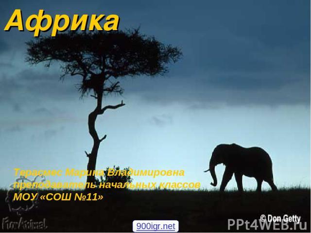 Африка Терасмес Марина Владимировна преподаватель начальных классов МОУ «СОШ №11» 900igr.net
