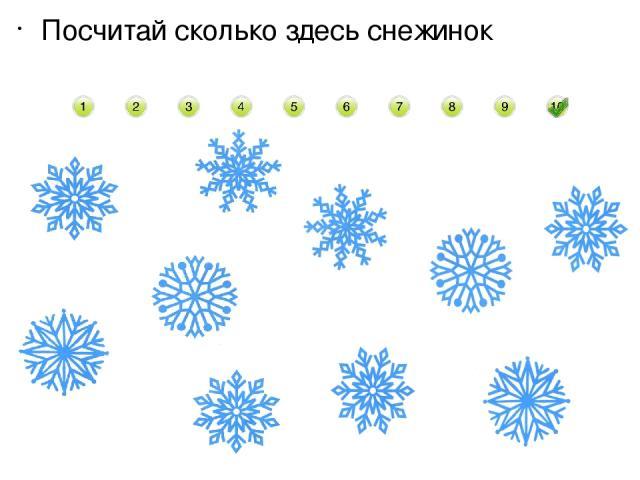 Посчитай сколько здесь снежинок