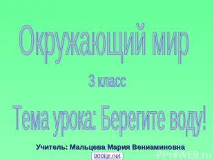 Учитель: Мальцева Мария Вениаминовна 900igr.net