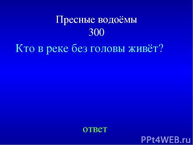 Пресные водоёмы 300 Кто в реке без головы живёт? ответ