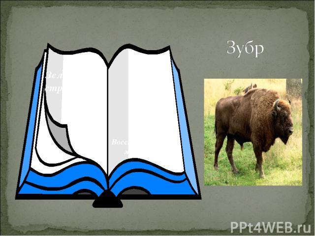 Зеленые страницы Восстановленные животные