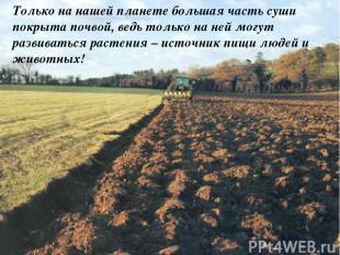 Только на нашей планете большая часть суши покрыта почвой, ведь только на ней мо