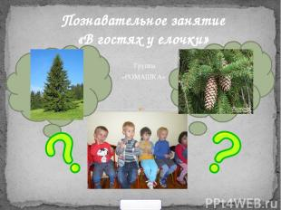 . Познавательное занятие «В гостях у елочки» «РОМАШКА» Группа 900igr.net