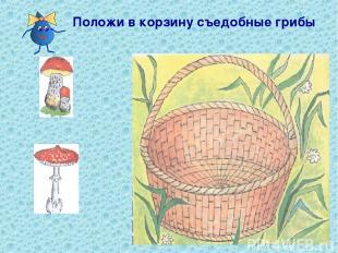 Положи в корзину съедобные грибы
