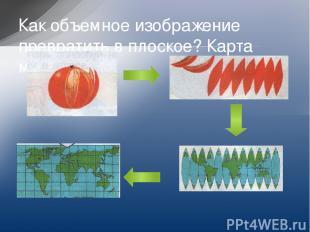 Как объемное изображение превратить в плоское? Карта мира.