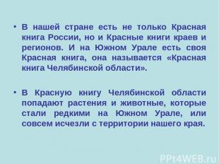 В нашей стране есть не только Красная книга России, но и Красные книги краев и р