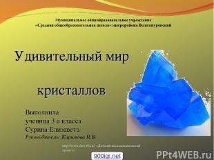 http://www.deti-66.ru/ «Детский исследовательский проект» Удивительный мир крист