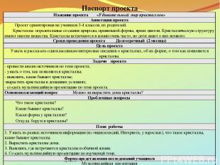 http://www.deti-66.ru/ «Детский исследовательский проект» Паспорт проекта Назван