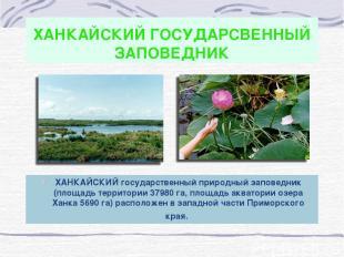 ХАНКАЙСКИЙ ГОСУДАРСВЕННЫЙ ЗАПОВЕДНИК ХАНКАЙСКИЙ государственный природный запове