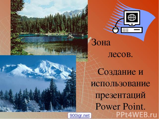 Зона лесов. Создание и использование презентаций Power Point. 900igr.net