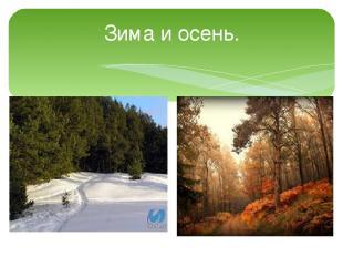 Зима и осень.