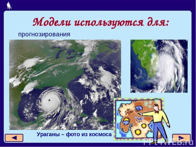 Модели используются для: прогнозирования Ураганы – фото из космоса