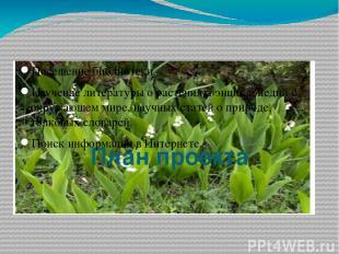 План проекта Посещение библиотеки. Изучение литературы о растениях: энциклопедий