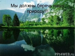 Мы должны беречь нашу природу!!!